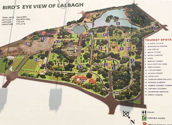 Bird's Eye View of Lal Bagh, Bangalore