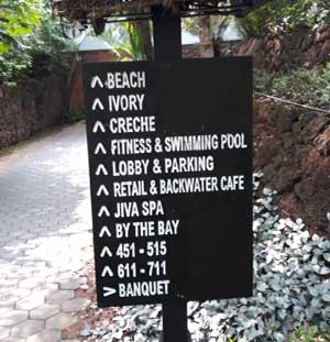 Signs @ Vivanta By Taj, Bekal